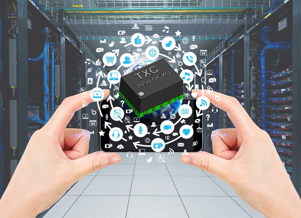 TXC恒温晶振独特的热对称技术100%满足5G宽带设备